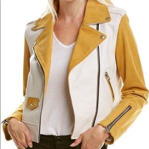 Mackage Baya Leather Moto Jacket size Small